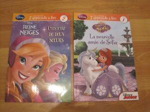 Ensemble de 2 livres Disney- excellent état  -Princesse Sofia  -