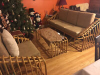 Bamboo 6 pieces couch!