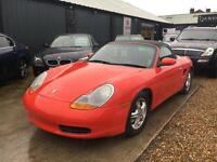 PORSCHE BOXSTER 24V CONVERTIBLE Red Manual Low Mileage, Petrol, 2001 (Y)