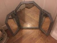 Grey glitter effect dressing table mirror £25. B on Avon