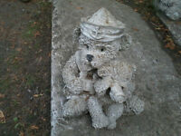 Ornamental concrete bears