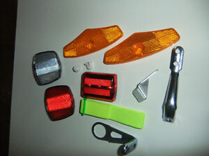 various reflectors, helmet, Cat Eye mirror