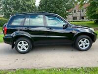 2002 Toyota RAV-4 VX VVT-I FULL BLACK LEATHER 12 MONTHS MOT Estate Petrol Manual