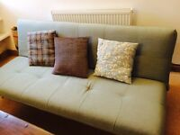 Sage green sofa bed
