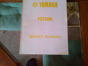 1987 yamaha fz 750 service manuals in new condition