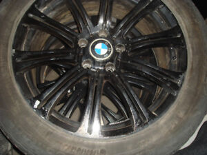 A set of winter tires Continental Contact on BMW mags