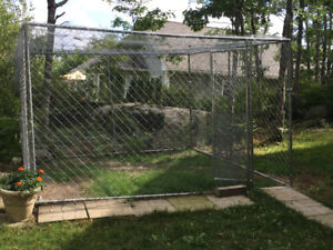 10 X 10 Foot Chain Link Dog Kennel