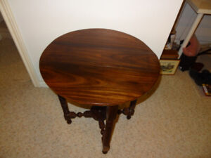 Rosewood Folding table from South India