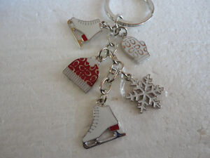 Brand new Coach keychain keyring skates mitts gloves  charms London Ontario image 4