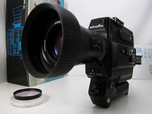 Working Professional MINOLTA SUPER 8 MOVIE CAMERA W/Pro Filming Speed & Inst