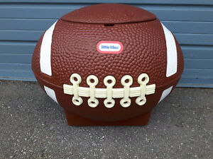 Little Tykes Large Football Toy Box/Storage/Tailgate Cooler