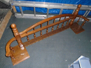 Solid oak railing and spindles