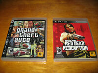 3 PS3 Games Bundle, GTA IV Red Dead Redemption, Black OPS