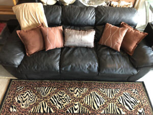 Leather Lazy Boy Queen Sofabed
