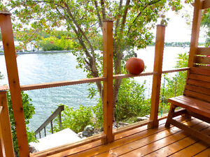 WATERFRONT HOUSE FOR SALE TRENT RIVER CAMPBELLFORD 60X75 FT LOT