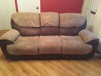 3 seater reclining sofa and power reclining chair