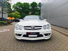 2003 53 reg Mercedes-Benz SL55 AMG 5.5 V8 auto Convertible WHITE + Bodykit + LHD
