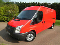 2013/63 Ford Transit T300 LWB MEDIUM ROOF PANEL VAN 125PS WITH AIR/CON