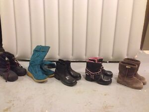 Variety of girls boots sizes 13,2 and 3
