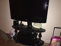 LCD 42inch lg tv with stand and lg DVD player