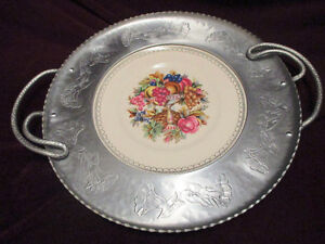 Vintage Wrought Farberware Tray&Bowl w/ Triumph Limoges Plate w/ Stratford Kitchener Area image 2