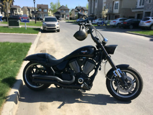 Victory Hammer S with 14 Inch Apes Chopper Style Harley Davidson