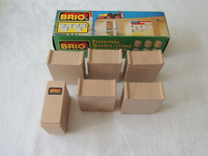 Brio Wood Trains Bridge 6 Supports Authentic, Vintage (Sweden)