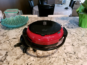 Red Circular George Foreman Grill