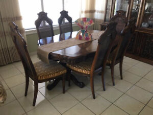 DINING ROOM SET solid wood, hand carved,