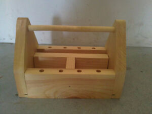 Handmade wooden tool caddy organizer multipurpose use