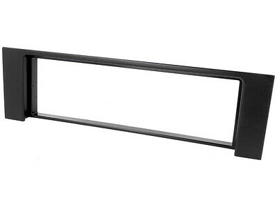 AUDI A4 B6 8E 8H Auto Radioblende 1-DIN schwarz BLENDE RAHMEN  - Cabrio Schwarz Rahmen