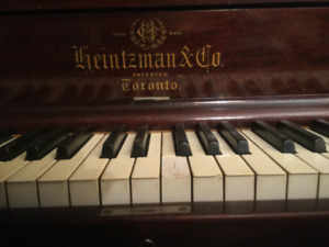 Grand Piano in Upright Form -Antique