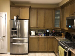 Kitchen Cabinets/Counter/Bar Island used in Excellent condition