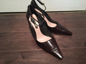 Enzo Angiolini Brown Leather Pumps (size 7MM)