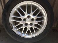 "16"" Subaru rims w/ 3 good tires"
