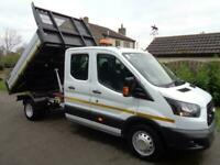 2017 (17reg) Ford Transit 2.0TDCi (130ps) Double Cab Tipper Truck, EURO 6