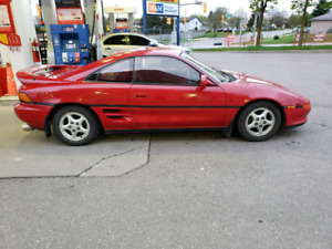 VERY RARE RED 1990 TOYOTA MR2 G LIMITED COUPE WITH ONLY 150K KMS