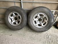 2x trailer, pickup, 4x4 wheels and tyres 235/75 6 stud