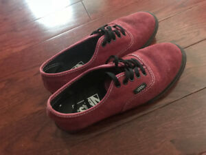 Vans Maroon Shoes Size 6