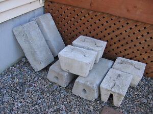 8 blocs de béton pour garage de toile