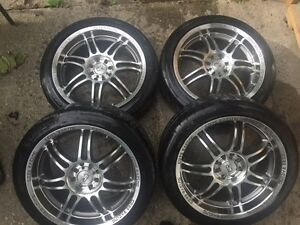 """17"""" Core racing rims and tires"""
