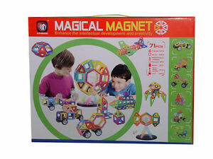 71 pcs Magical Magnet Toys Magnetic Construction Like Magformers