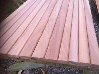 Hardwood bench slats for cast iron bench ends