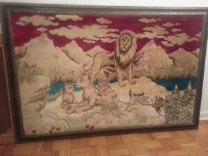 Big Fabric Art -  wood frames West Island Greater Montréal image 1