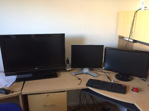 "32"" LG TV,  23"" ASUS Monitor, and 20.1"" DELL Monitor Windsor Region Ontario image 1"