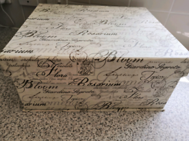 Shabby chic style home strong cardboard storage box - BS4