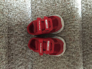 Sketchers toddler size 7.5 red running shoes