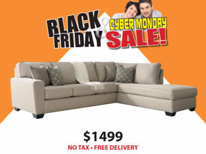 BLACK FRIDAY SALE - GROVER SECTIONAL $1499 NO TAX -FREE DELIVERY