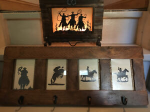 Cowboy Silhouette Rack and Tealight Holder