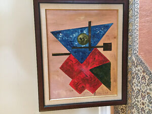 Canadian school 20th century abstraction acrylic on canvas West Island Greater Montréal image 1